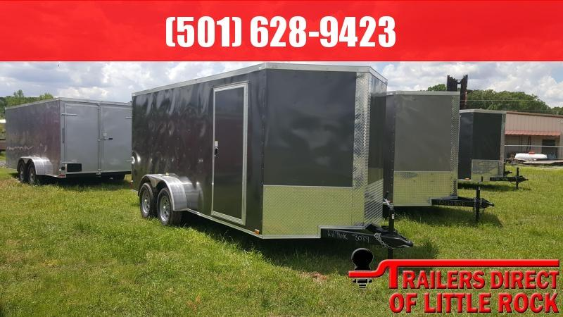 2018 Doolittle Razorback 7X16TA CHARCOAL BARN DOOR