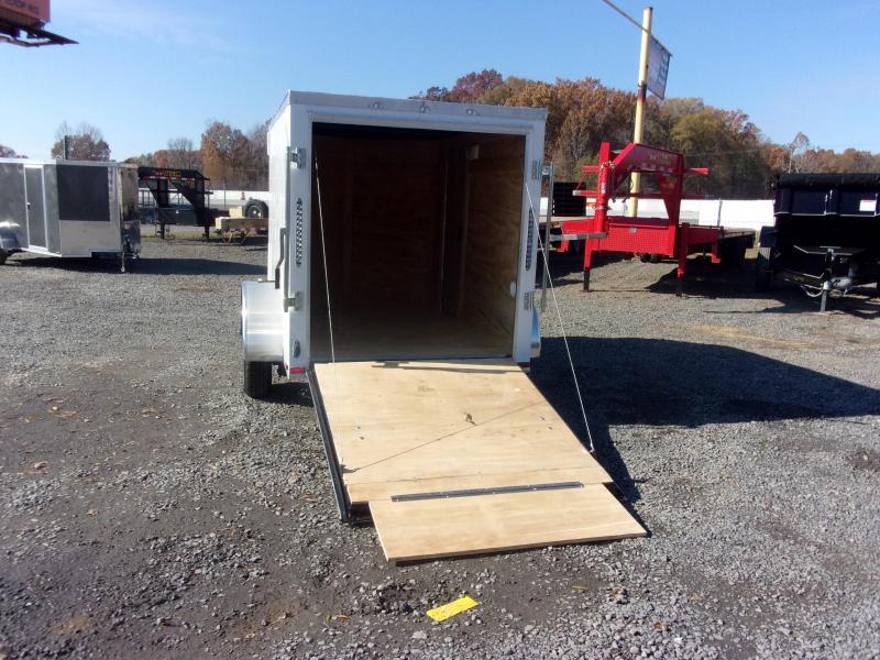 2019 Doolittle Trailer Mfg Razorback 5x8SA White Ramp Door Enclosed Cargo Trailer