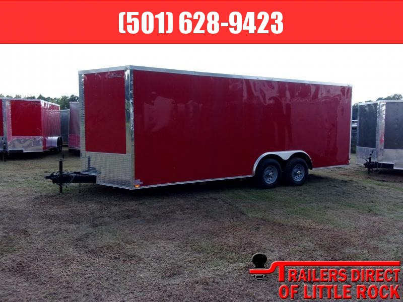 2018 Doolittle Razorback 8.5x20TA3 Red Ramp Door Enclosed Cargo Trailer
