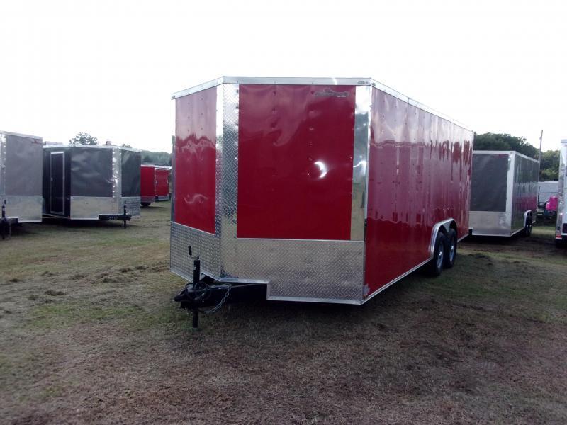 2018 Doolittle Razorback 8.5x20TA3 Red Ramp Door Enclosed Cargo Trailer
