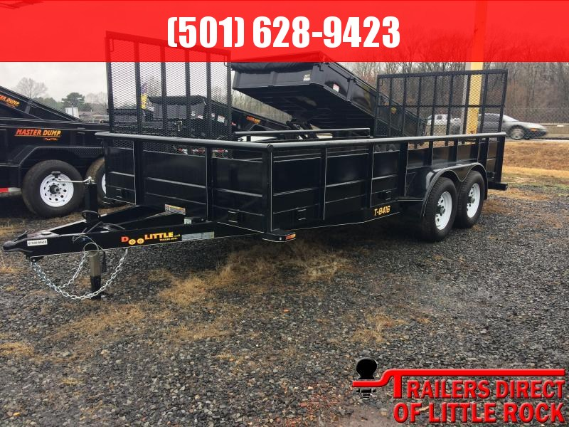 2017 Doolittle Trailers UTILITY 84X16TA 5' GATE -  2' DOVETAIL - 2' STEEL SIDES - 5' SIDE LANDSCAPE GATE