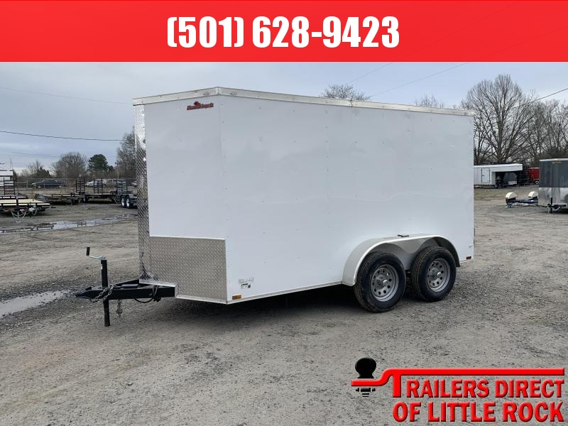 2019 Doolittle Trailer Mfg Razorback 6x12TA White Barn Door Enclosed Cargo Trailer