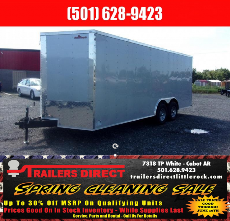 RED SALES 2018 Doolittle Razorback 8.5x20TA3 Silver Ramp Door Enclosed Cargo Trailer