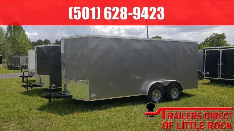 2018 Doolittle Razorback 7X16TA Pewter Barn Door Enclosed Cargo Trailer