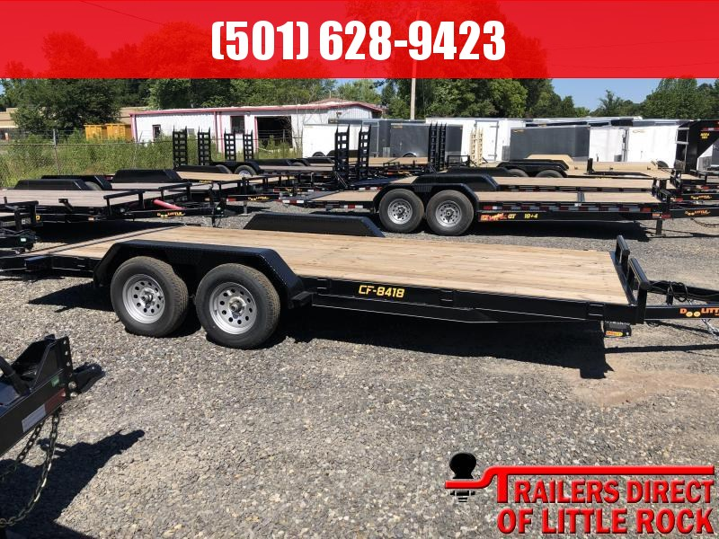 2019 Doolittle Trailer Mfg CF 84x18 TA 7k Self Store Ramps Equipment Trailer in Prattsville, AR