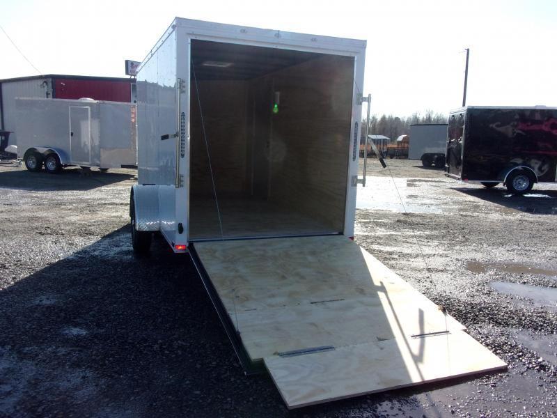 2019 Doolittle Trailer Mfg Razorback 6x12SA White Ramp Door Enclosed Cargo Trailer