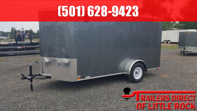 2018 Doolittle Trailer Mfg Bullitt 6x12SA Gray Ramp Door Enclosed Cargo Trailer