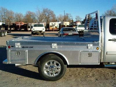 2019 Alum-Line 4-Box Skirted Aluminum Flatbed
