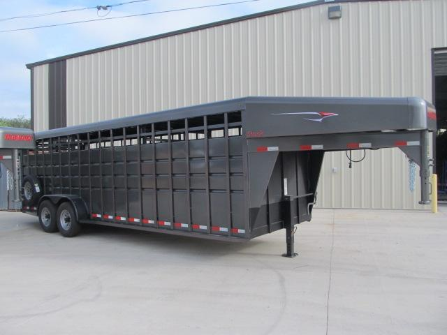 "2018 Travalong 6'8"" x 24' Stock Trailer"