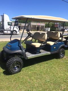 Club Car Precedent 6 Penger Limo - Blue | Golf Carts in Baxley ... Used Limo Golf Carts For Sale Html on limo golf cart rims, limo golf cart kits, limo golf cart parts,