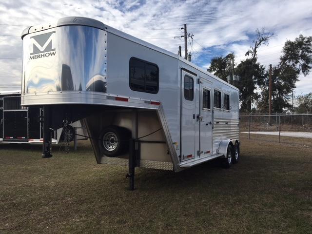 2019 Merhow Trailers 3 horse w/dressing room Horse Trailer