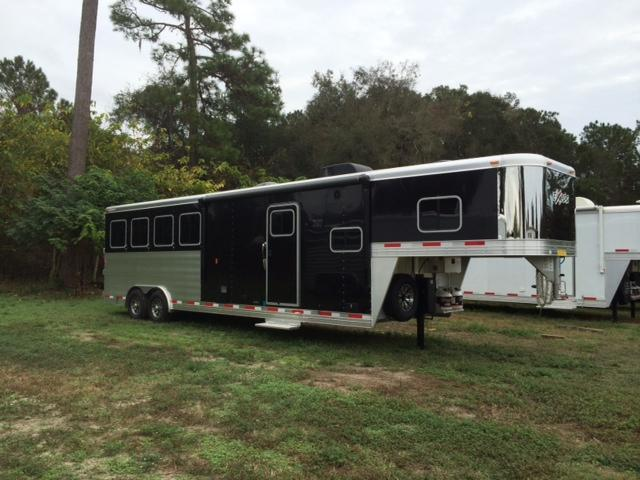 2016 Exiss Trailers 8 wide 4 horse w/ 10' lq Horse Trailer