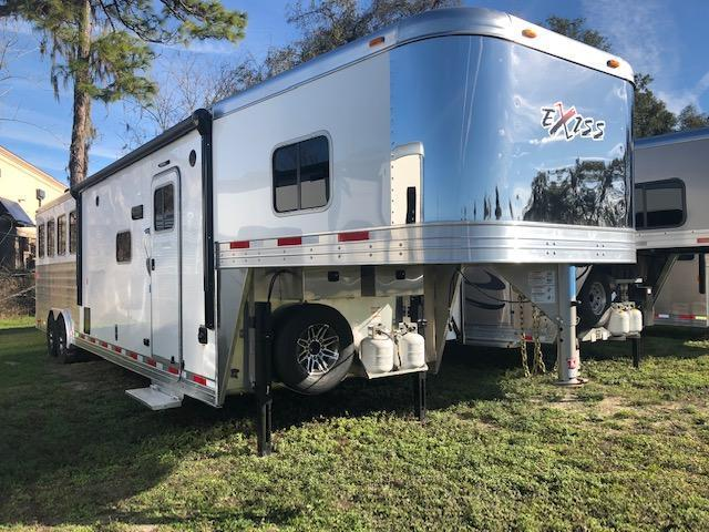2019 Exiss Trailers 8 wide 4 horse w/12' lq and slide Horse Trailer