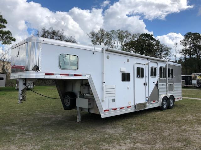 2013 Featherlite 8 wide 3 horse w/10' lq Horse Trailer