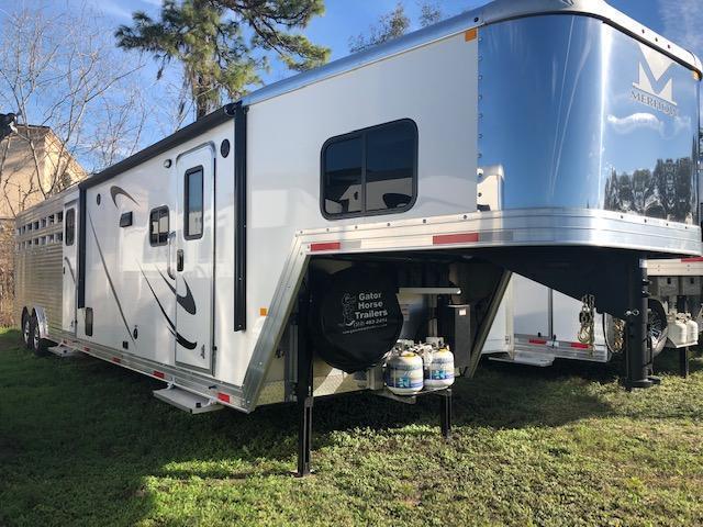 2019 Merhow Trailers 8 wide 3 horse w/11' lq and slide Horse Trailer