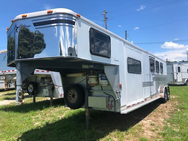 2002 Silver Star Trailers 3 horse w/10' lq and slide Horse Trailer