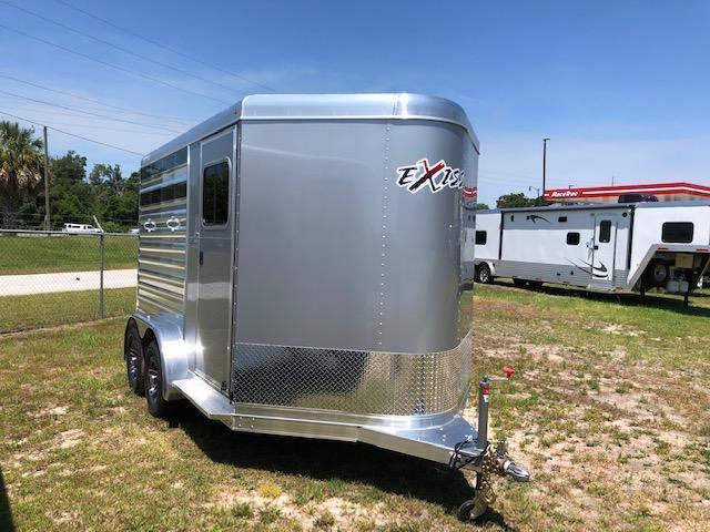 2020 Exiss Trailers 2 horse bumper pull CXF w/dressing room Horse Trailer