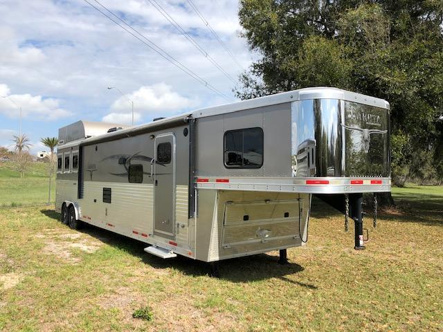 2015 Lakota Bighorn 8 wide 3 horse w/17' lq superslide Horse Trailer