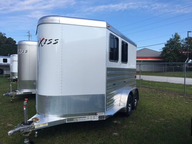2019 Exiss Trailers 2 horse slant XT with dressing room Horse Trailer