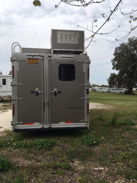 2015 Merhow Trailers 8 wide 4 horse w/17 lq superslide Horse Trailer