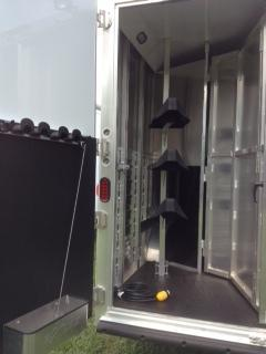 2012 Exiss Trailers 8 wide3 horse w/12' lq Horse Trailer