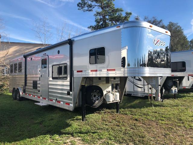 2020 Exiss Trailers 8' wide 3 horse w/14' lq slide/sofa/dinette Horse Trailer