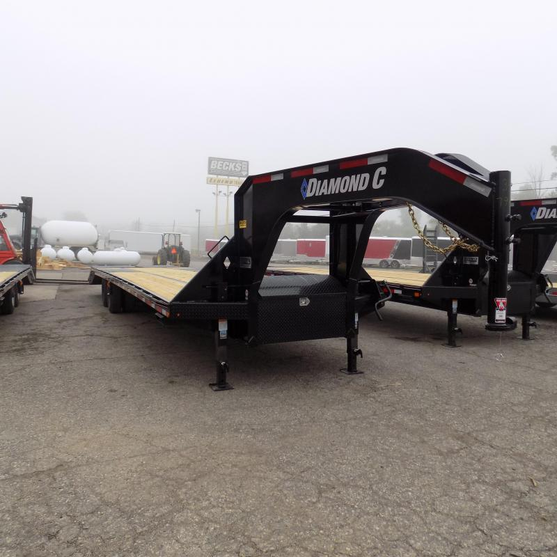 "New Diamond C Trailers 102"" x 35"" Gooseneck Trailer with MAX Ramps"