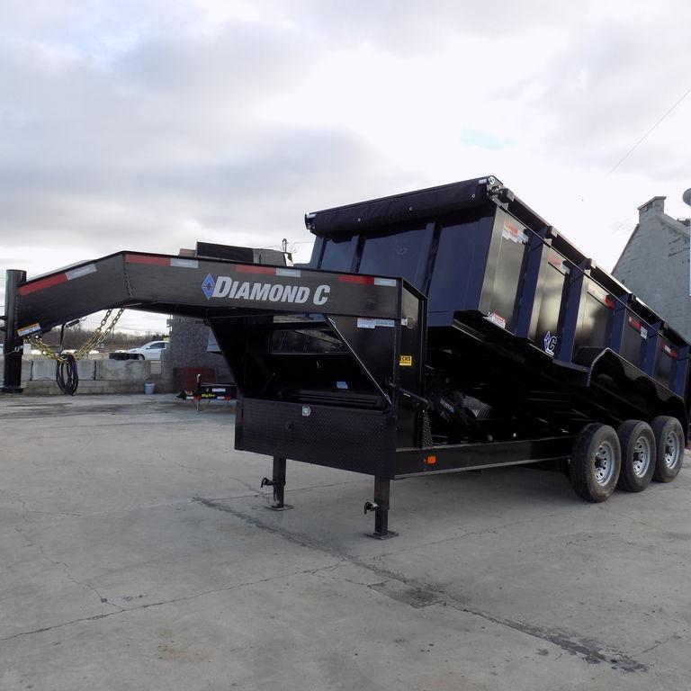 "New Diamond C 82"" x 16' Gooseneck Dump Trailer for Sale"