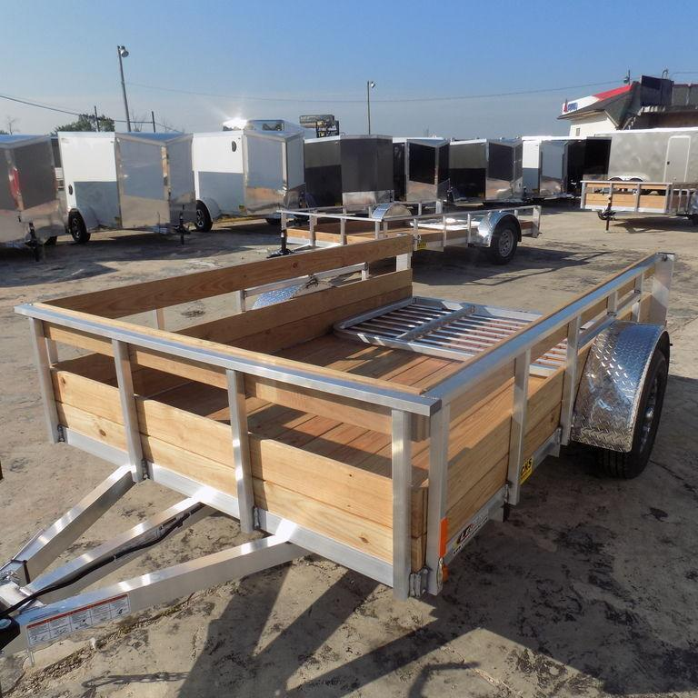 New Legend 6' x10' Aluminum 3 Board High Side Utility Trailer