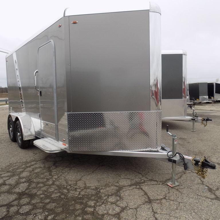 New Legend Deluxe V Nose Cargo 7' x 17' Aluminum Enclosed Cargo Trailer