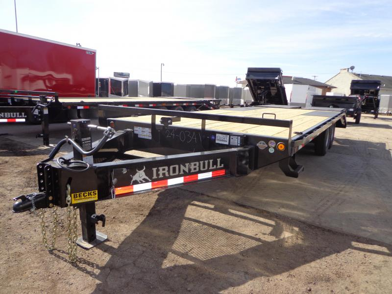 "New Iron Bull 102"" x 24' Deckover Trailer - 8K Axle Upgrade"