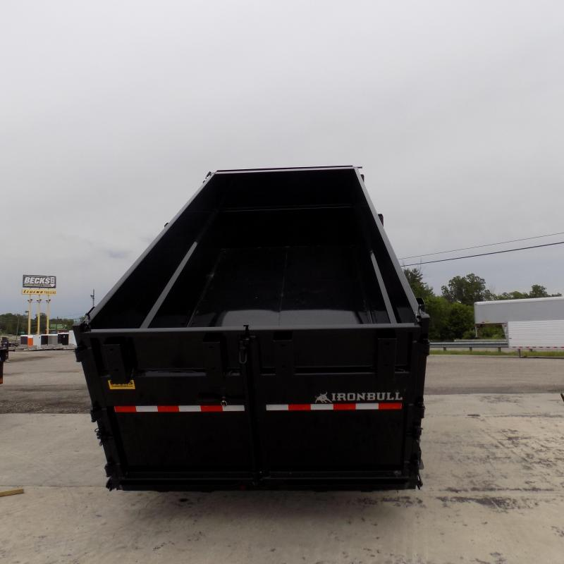 "New Iron Bull 83"" x 16' Triple Axle Dump Trailer W/ 48"" Sides"