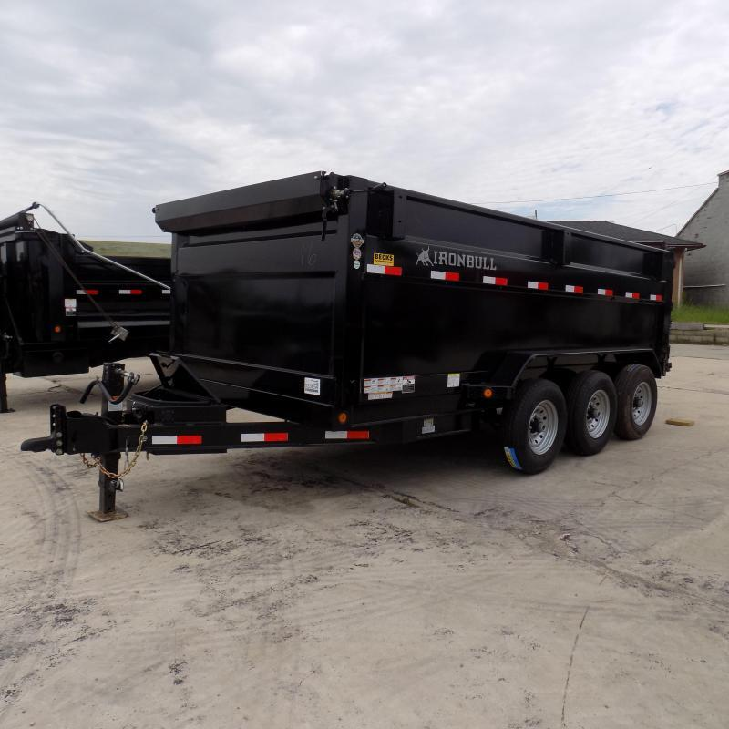 "New Iron Bull 83"" x 16' Triple Axle Dump Trailer W/ 48"" Sides"