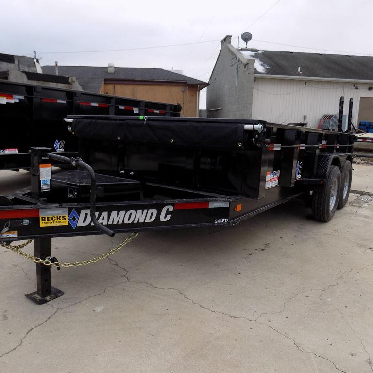 "New Diamond C 82"" x 14' Low Profile Dump Trailer in Ashburn, VA"