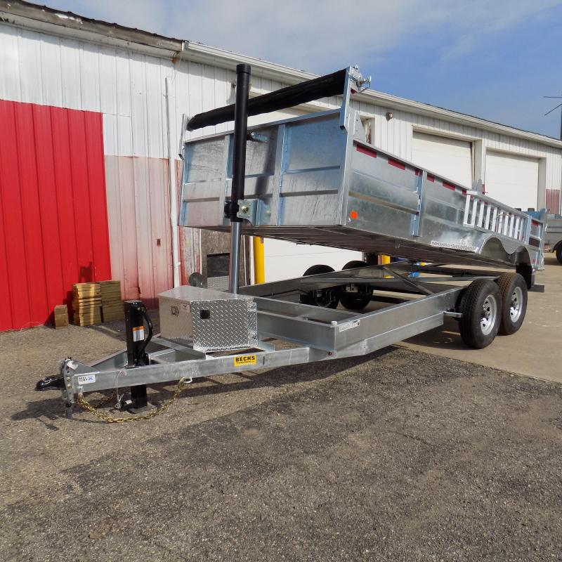 "New Galvanized 80"" x 16' Dump Trailer with 24K Telescopic Lift in Ashburn, VA"