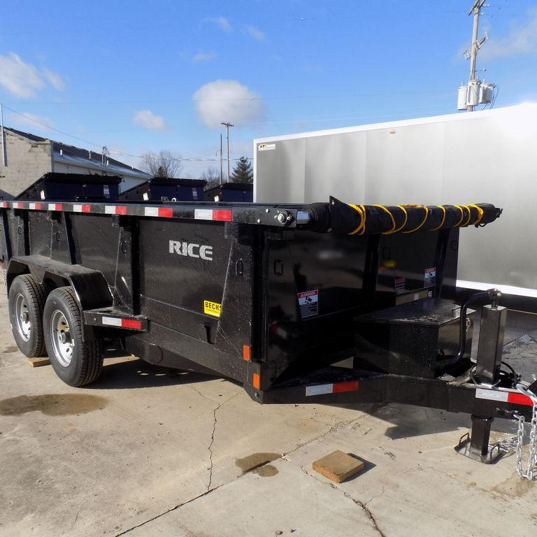 """New Rice Trailers 82"""" x 14'  Dump Trailer for Sale"""