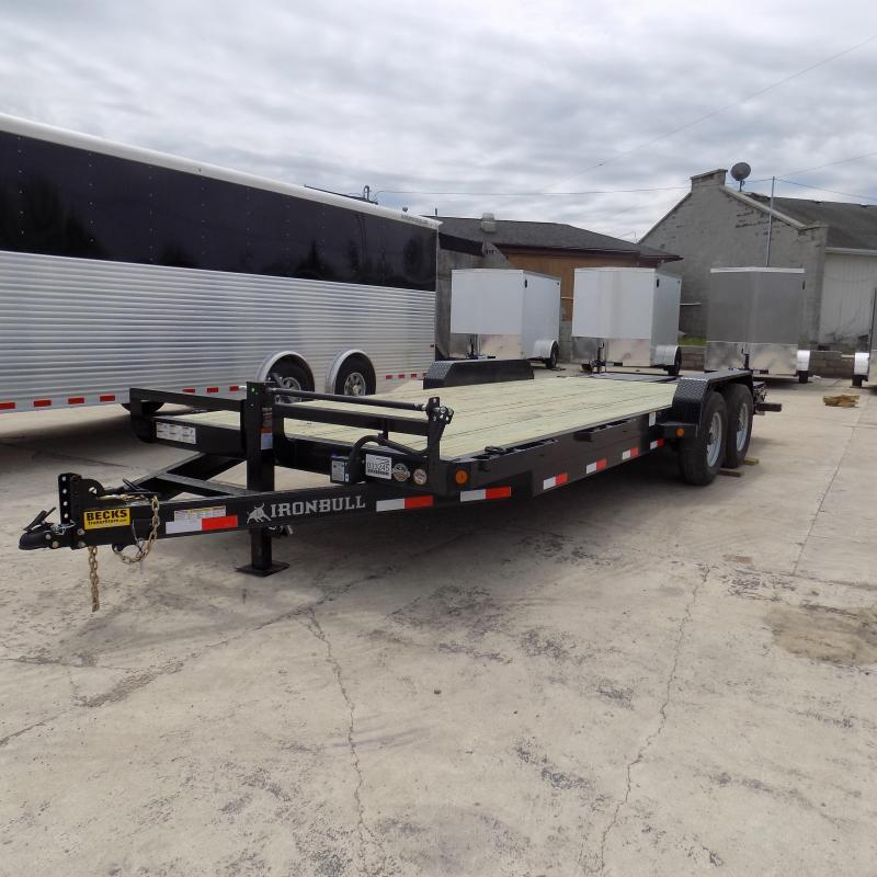 "New Iron Bull 83"" x 22' Equipment Trailer with Rampage Ramps"