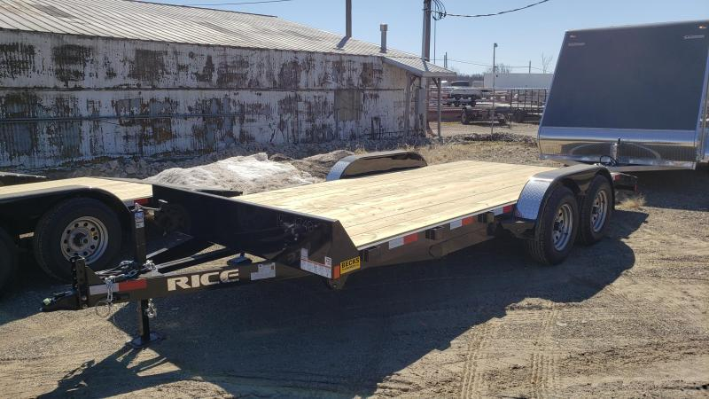 "New Rice Trailers Magnum 82"" x 16'+2' Open Car Hauler - 5200# Axles"