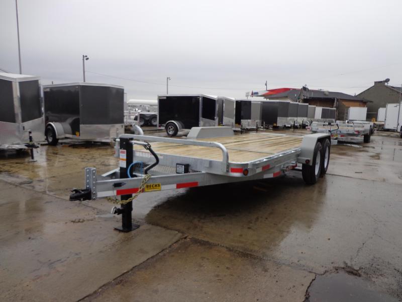 "New Galvanized 83"" x 20' Tilt Deck Equipment Trailer"
