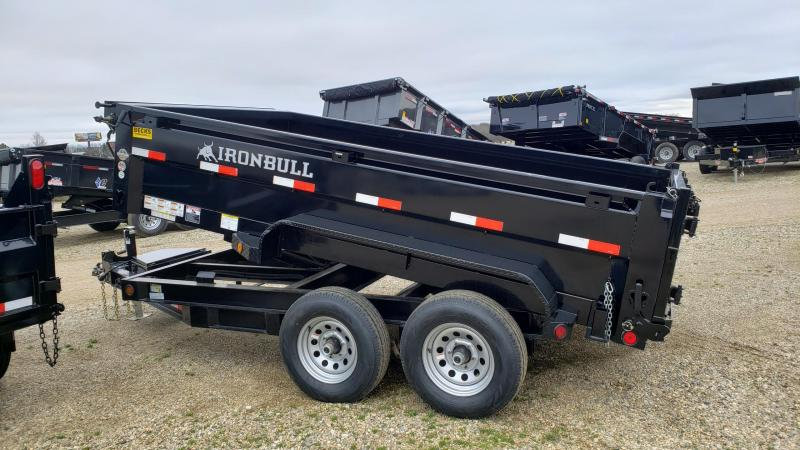 "New Iron Bull 83"" x 12' Dump Trailer for Sale"