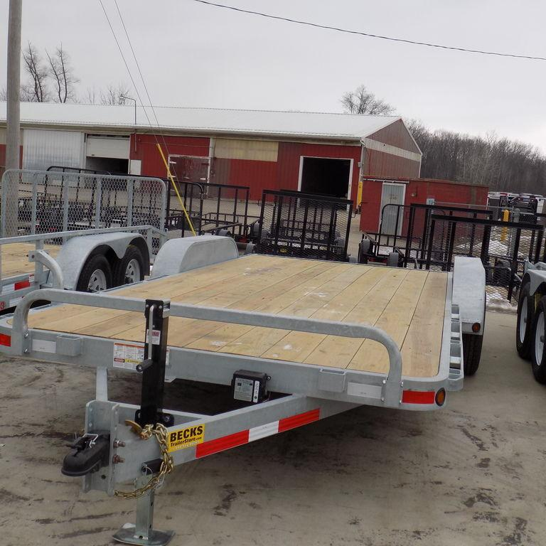 "New Galvanized EC5 83"" x 18' Open Car Hauler"