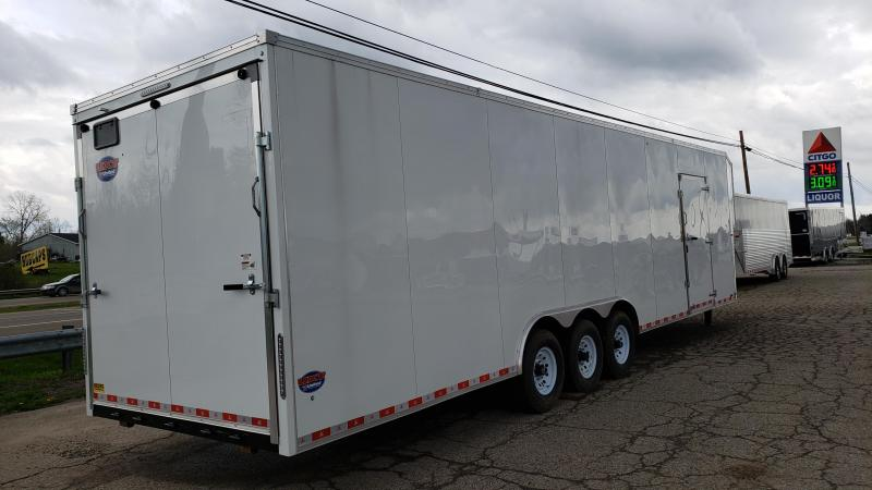 New United Trailers 8.5' x 40' Gooseneck Car / Racing Trailer - Triple Axle