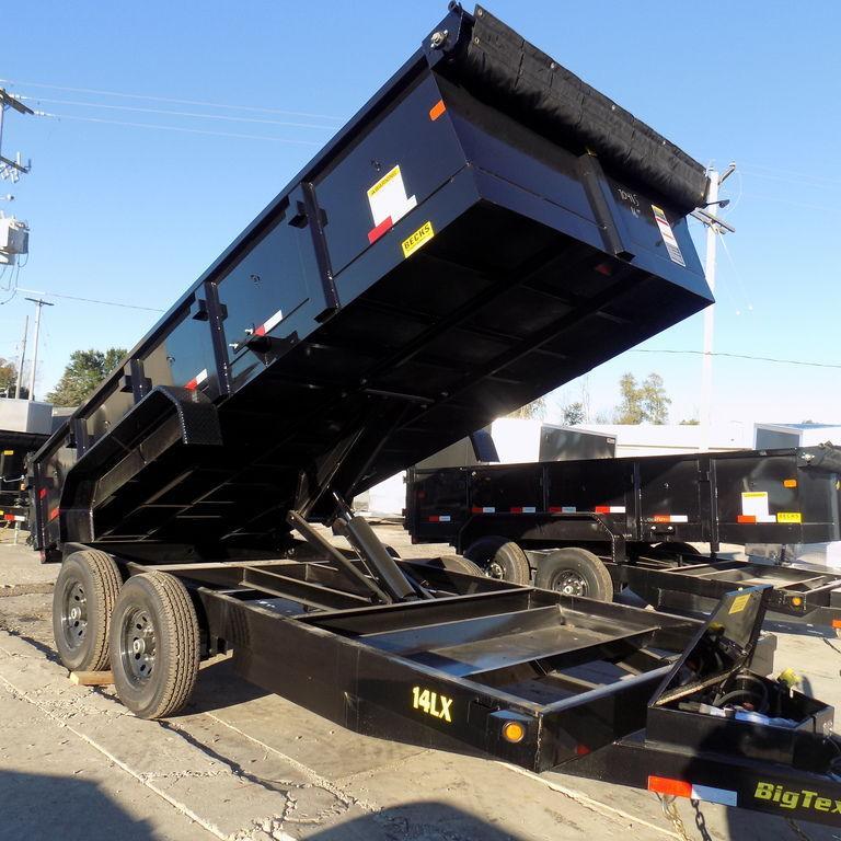 "New Big Tex 83"" x 16' Dump Trailer with Scissor Lift"