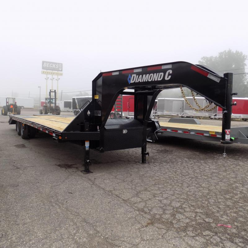 "New Diamond C Trailers 102"" x 32"" Gooseneck Trailer with MAX Ramps"