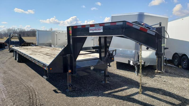 "Used 102"" x 30' + 5' Gooseneck Equipment Trailer for Sale"