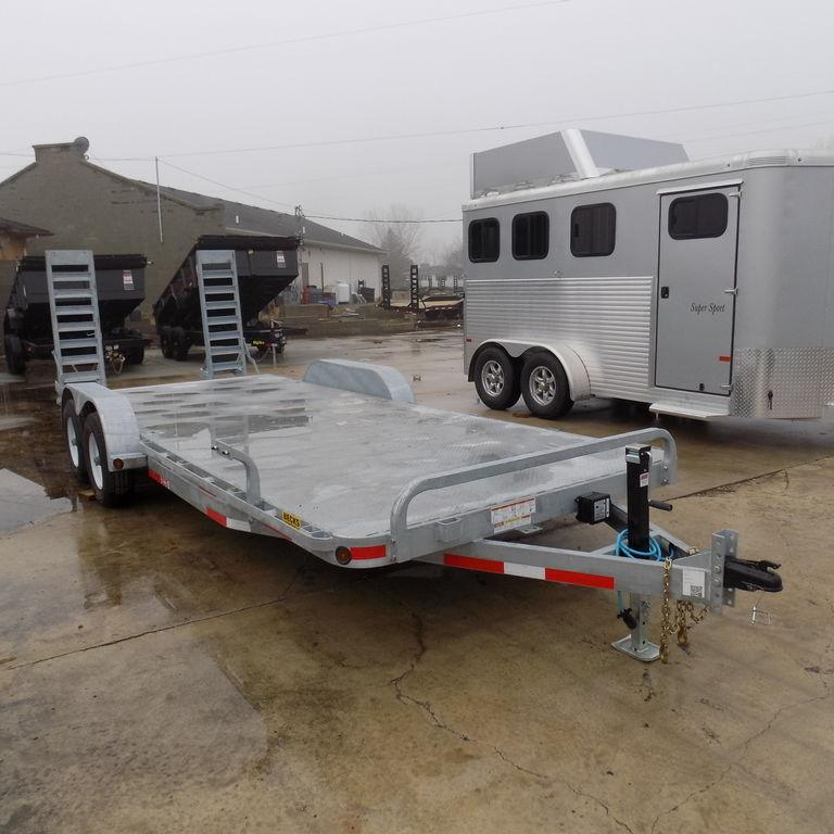 "New Galvanized EC5 83"" x 20' Open Car Hauler"