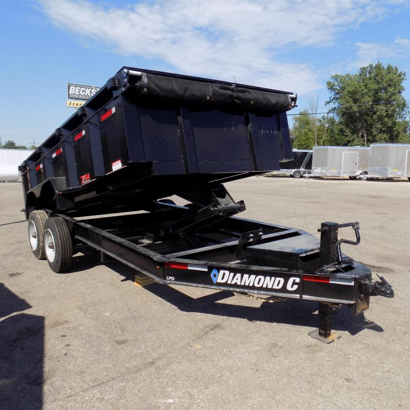 "New Diamond C 82"" x 14' Low Profile Dump Trailer For Sale"