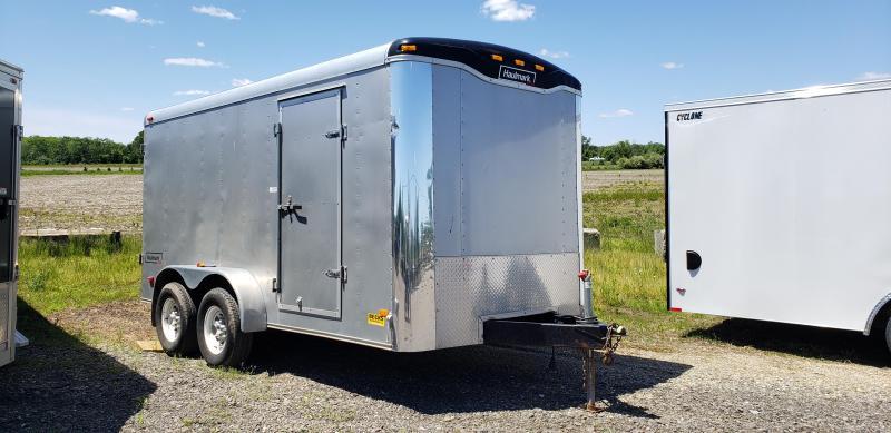 Used Haulmark 7' x 14' Enclosed Cargo Trailer With 5200# Axles