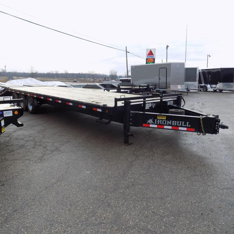 """New Iron Bull 102"""" x 30' Deckover Trailer for Sale"""