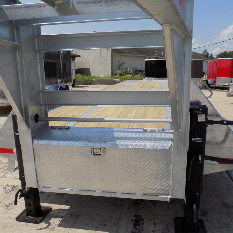 """New Galvanized 102"""" x 36' Gooseneck Trailer - Corrosion Resistant"""